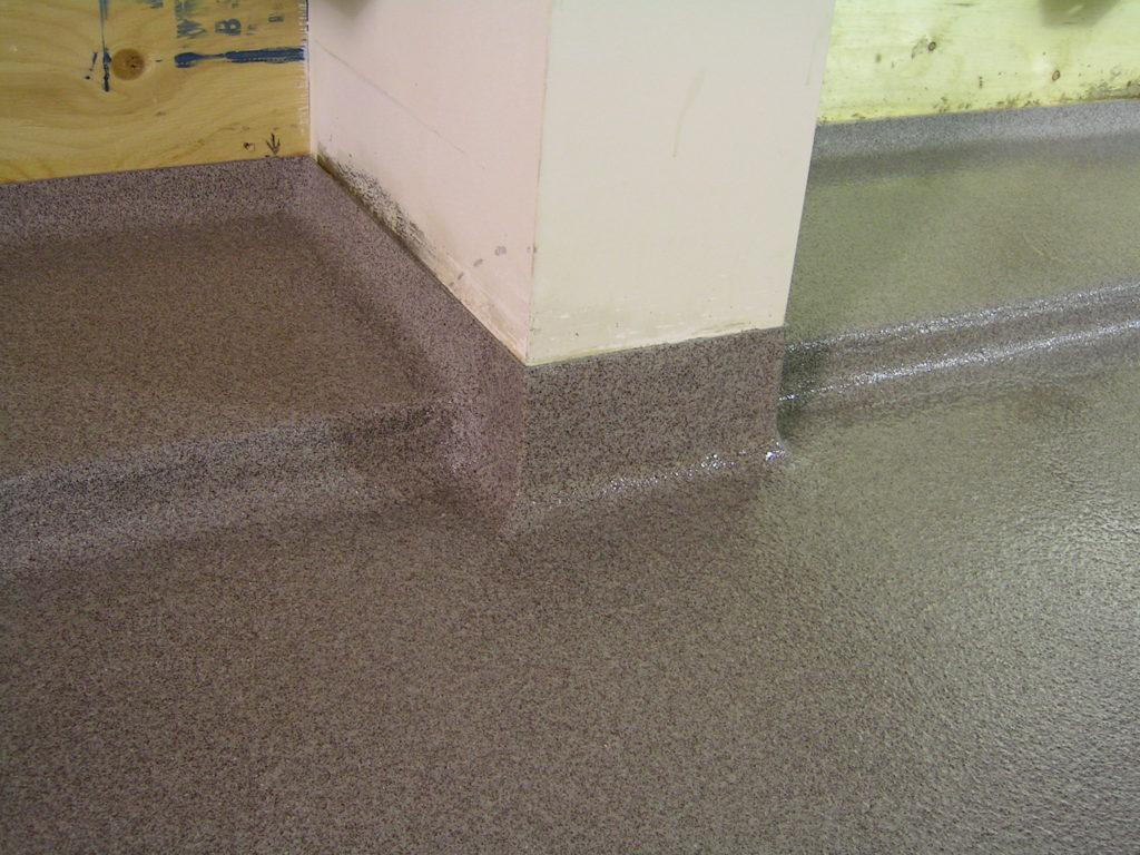 epoxy coating calgary - coated concrete surface
