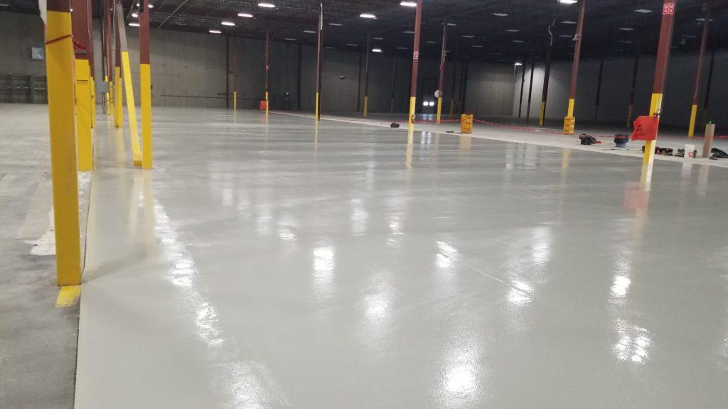calgary epoxy floor coatings - finished project