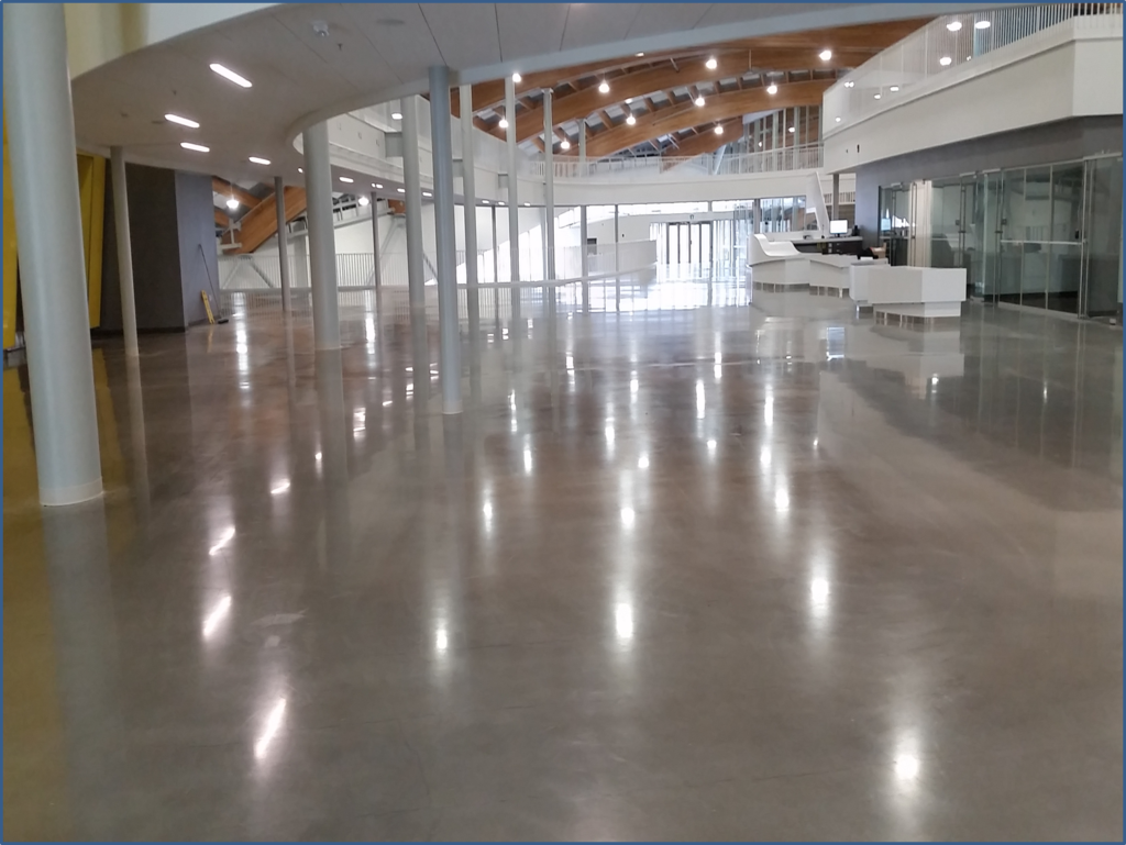 calgary polished concrete finishing - institutional client