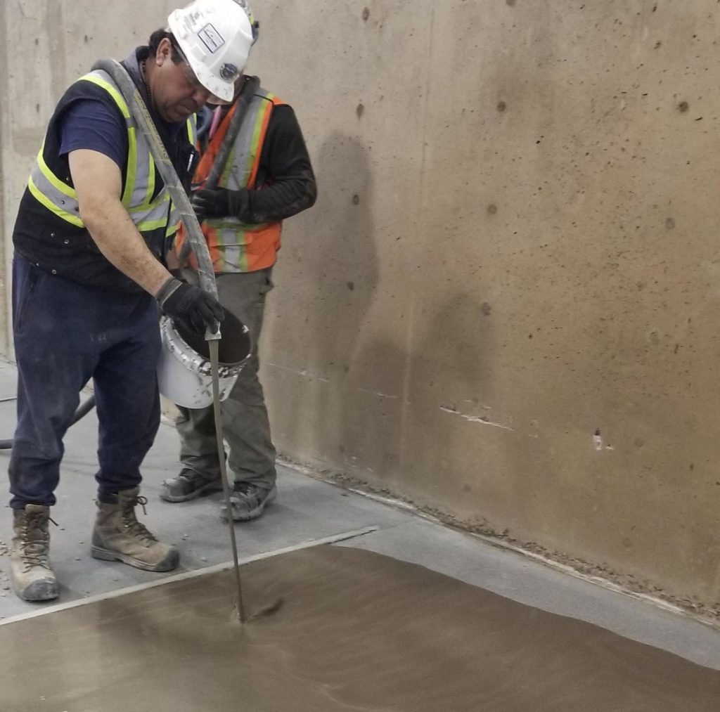 self leveling calgary - concrete solutions contractors
