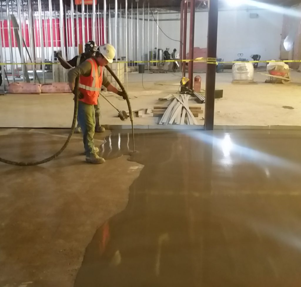 calgary self leveling surfaces - working on surface