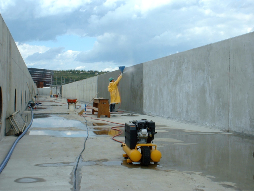 calgary waterproofing concrete - commercial outdoors concrete project